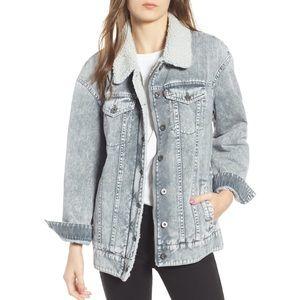 Levi's oversized trucker jean sherpa jacket